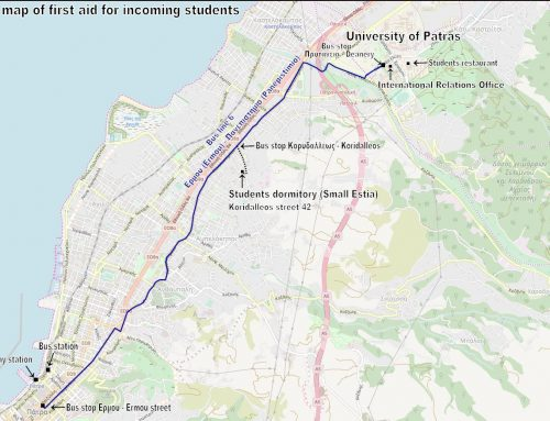 A first aid map, Patras sightseeing map and a website created from Erasmus students to Erasmus students